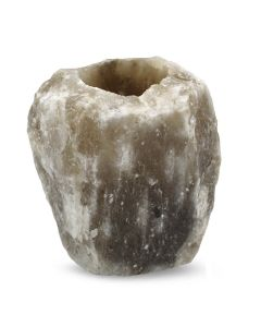 Himalayan Salt Tealight Holder Black .