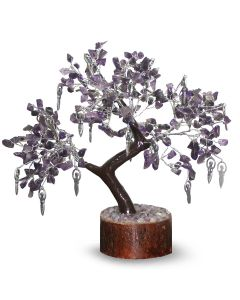 Gem Tree With Charms 300 Beads-Healing - Amethyst with Goddesses