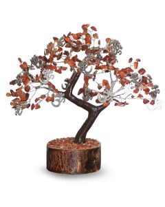 Gem Tree With Charms Om 300 - Carnelian
