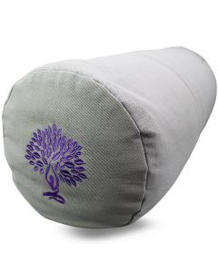 Yoga Bolster Cotton Twill - Yoga Tree Grey