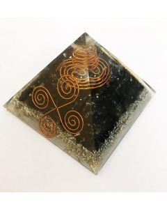 Pirámide Vastu de turmalina negra de orgón