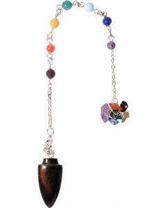 Gemstone Pendulum Chakra Chain Curved Tiger Eye