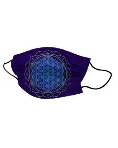 Máscarilla de Yogi Flor de la Vida Azul