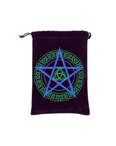 Velvet Bag - Purple Unlined Pentacle
