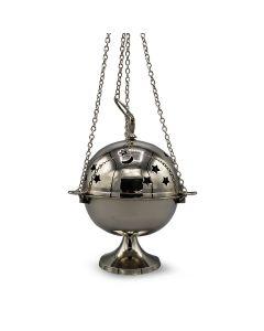 Nickel Hanging Incense Burner (18cm)