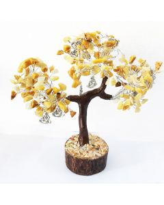 Edelsteenboom met Lachende Boeddha 160 Stenen - Reflecting