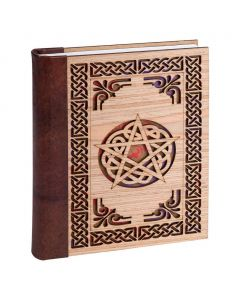 Leather Journal Pentagram with Leather back