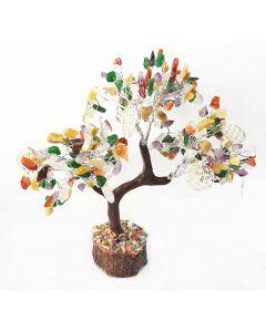 Edelsteenboom Reiki Multisteen met Flower Of Life 300 Stenen