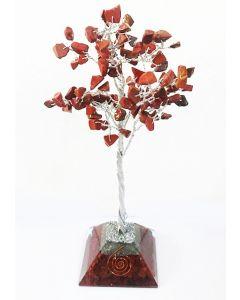 Edelsteenboom met Rode Jaspis Orgone Pyramide Basis 100 Stenen