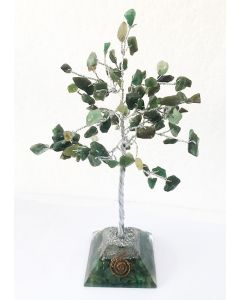 Edelsteenboom met Groene Jade Orgone Pyramide Basis 100 Stenen