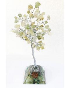 Edelsteenboom met Groen Aventurijn Orgone Pyramide Basis 100 Stenen