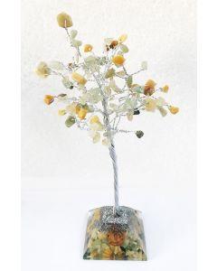 Edelsteenboom met Groene Aventurijn & Gouden Kwarts 100 Stenen