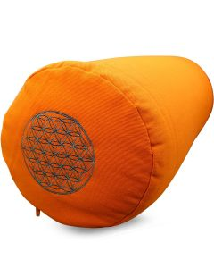 Yoga Bolster Katoen Twill - Flower of Life Oranje