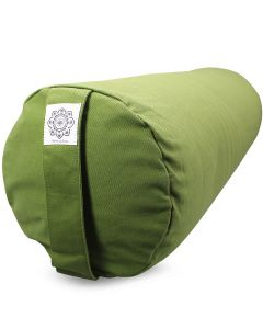 Yoga Bolster Dyed Cotton Twill - Plain Olive Green