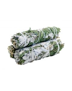 White Sage & Cedar Smudge 22 cms (Price per pc)