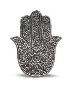 Porta incienso de mano de Fátima antiguo de aluminio