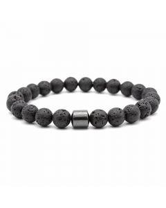 Natural Black Lava Bracelet with Tree Of Life