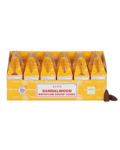 Satya Sandalwood backflow dhoop cones