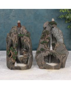 Buddha Mountainside Backflow Incense Burner
