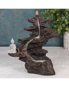 Buddha on Rocks Backflow Incense Burner