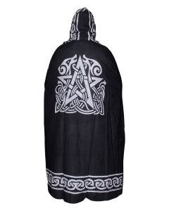 "BLACK ALTAR CAPE PENTACLE 55"" Med"