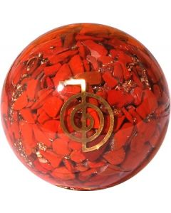 Orgonite Sphere Red Jasper Inside With Reiki