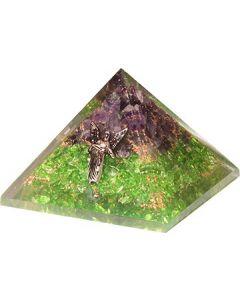 Orgonite Pyramid Perridot & Amethyst With Fairy Raphael  70
