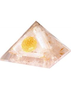 Orgonite Pyramid Selenite Inside With Flower of Life 70 mm