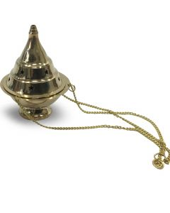 Brass hanging incense burner (10cm)