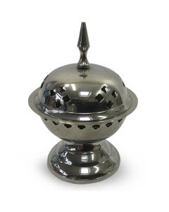 Nickel incense burner