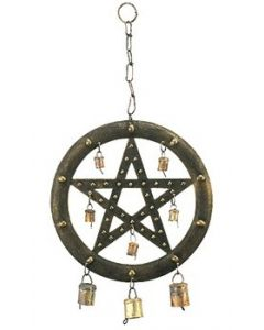 Wall Hanging Iron 45cm Pentagram