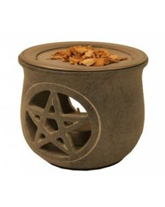 Pentacle Soapstone Aromaburner scent carrier