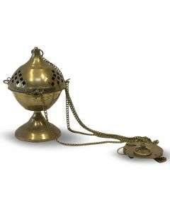 Brass hanging incense holder (20cm)