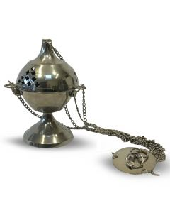 Hanging nickel incense burner (20cm)