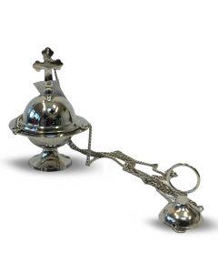 Nickel hanging incense burner (10 cm)