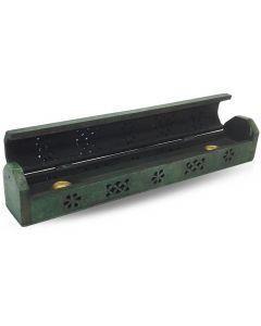 Houten Wierookdoos Groen 30cm