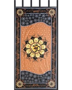 "Cotton Curtain 44""x 88"" Om Lotus"