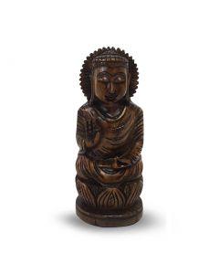 Boeddha Spl Hout 15Cm