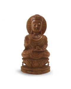 Boeddha Spl Hout 25Cm