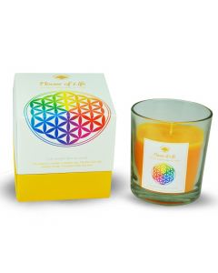 Green Tree Flower Of Life Fragrance Candle 125 Grams