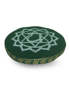 7 CHAKRA CUSHION 11 CM GREEN HEART