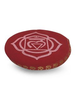 7 CHAKRA CUSHION 11 CM RED ROOT