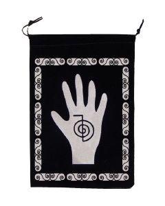 Black Velvet Pouch-Reiki Hand