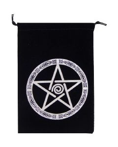 BAG - UNLINED VELVET PENTACLE