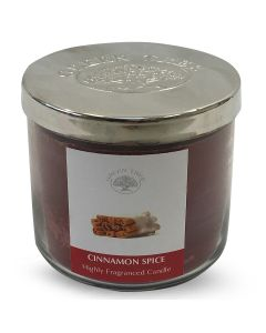Green Tree Cinnamon Spice Highly Fragranced Candle 400 Grams
