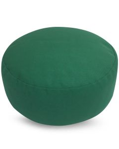 Meditation Cushion Plain Green Buckwheat Filled