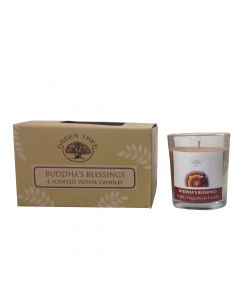 Green Tree  Buddha's Blessing votive candle 55 grams