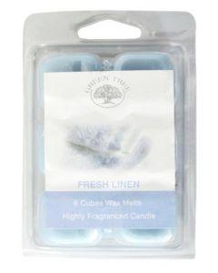 Green Tree Fresh Linen Wax Melts 6 stuks - 80 gram