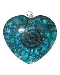 ORGONE HEART PENDANT - BLUE TOPAZ
