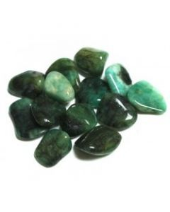 Tumbled stones-Emerald 100 grams